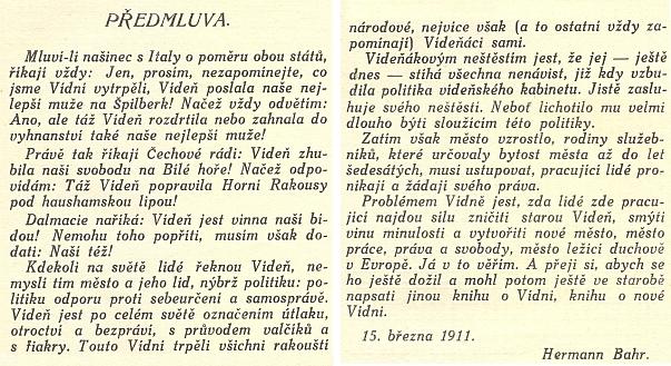 Obálka, titulní list (1911) a předmluva českého překladu jedné z jeho prací