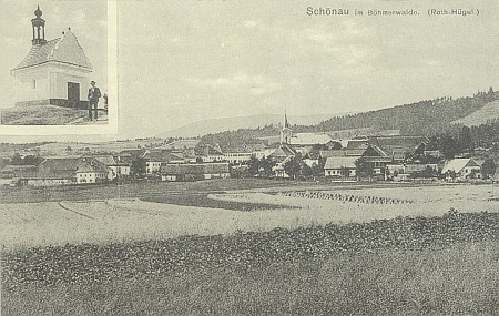 Staré pohlednice Josefa Seidela se Záhvozdím, Pěknou a mariánskou poutní kaplí na Červeném vršku