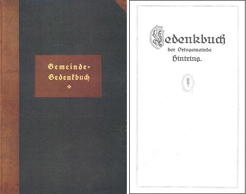 Vazba a titulní list pamětní knihy obce Záhvozdí, založené v roce 1924 (viz i Johann Jungbauer)