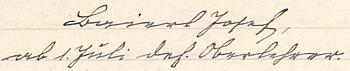 Podpis ze stránek školní kroniky