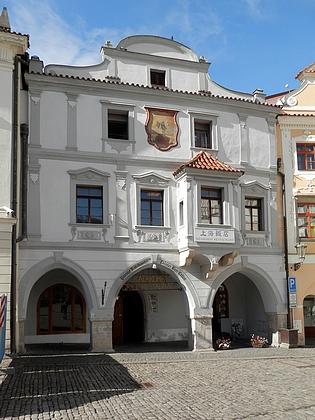 Dům čp. 14 na dnešním českokrumlovském náměstí Svornosti