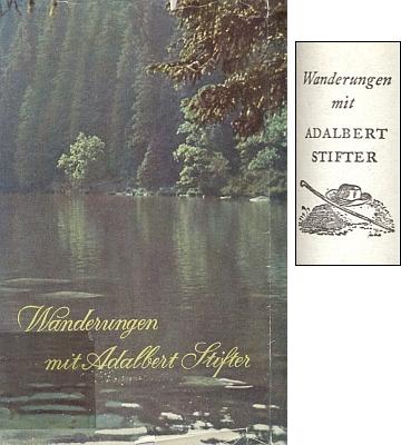 Obálka (1955) jeho knihy vydané v mnichovském     nakladatelství Prestel a štítek na její vazbě