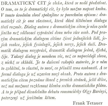 Úvod Franka Tetauera ke knižnímu vydání komedie Veliká hvězda v roce 1943, kdy byla jejím českým divadelním debutem