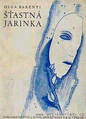 Obálka (1944) malířky Toyen k jejímu románu o herečce Jarmile Horákové (J. Otto, Praha)
