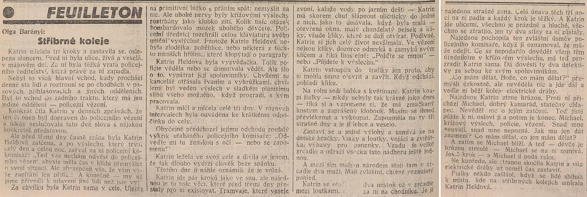 Česky psaný fejeton do vídeňského krajanského listu s nesporně autobiografickým motivem je zajímavý i svým datem z léta roku 1938