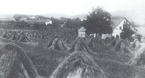 Kyselov od jihozápadu na starém snímku