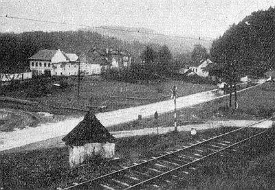 """Horní mlýn u Vyššího Brodu s """"klášterní"""" elektrárnou, kde pracoval před odsunem"""