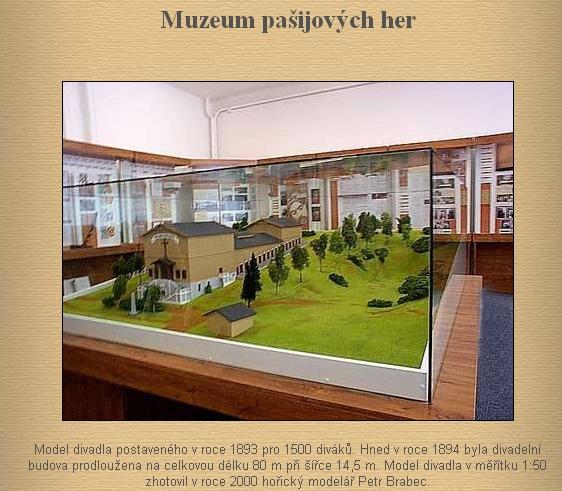 Muzeum pašijových her v Hořicích na Šumavě skrývá v sobě i tento exponát