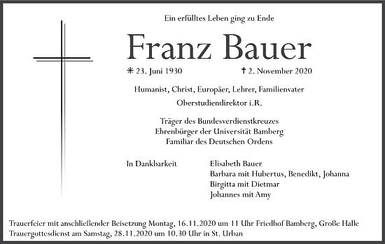 Parte a znak města Bamberg, kde zemřel, spjatého i s českými dějinami