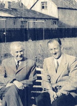 S Rudolfem Fleischmannem na snímku z roku 1957, pořízeném v Řezně