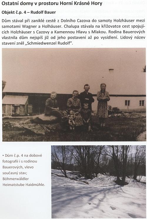 O rodném stavení čp. 4 v Krásné Hoře z knihy Luďka Němce