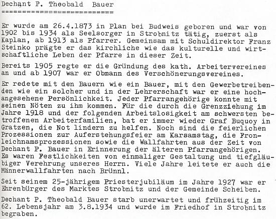 """Jeho medailon v krajanském sborníku říká, že """"er redete mit den Bauern wie ein Bauer"""", tj. že """"hovořil s rolníky jako rolník"""" už podle svéhopříjmení"""
