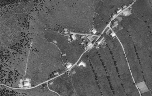 Bučina na leteckých snímcích z let 1949 a 2008
