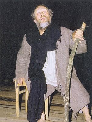 Ze hry o Mühlhiaslovi, kterou uvádějí ochotníci na hradě Lichtenegg