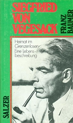 Obálka jeho knihy o Siegfriedu von Vegesackovi (1974, Eugen Salzer Verlag)
