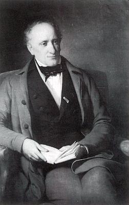 Na černobílé reprodukci portrétní malby Friedricha von Amerlinga (1803-1887) z obrazového archivu rakouské Národní knihovny ve Vídni