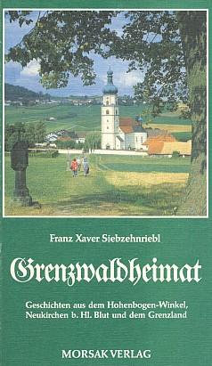 """Poutní kostel v Neukirchen beim Heiligen Blut na obálce (1991) knihy s informací o zhudebnění její básně """"Brunnen der Gnade"""" F.X.Siebzehnrieblem (nakladatelství Morsak, Grafenau)"""