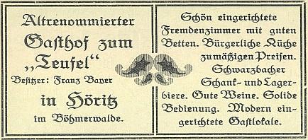 """Hořický hostinec """"Zum Teufel"""", jeden z 11, které tu kdysi sloužily zejména návštěvníkům pašijových her"""
