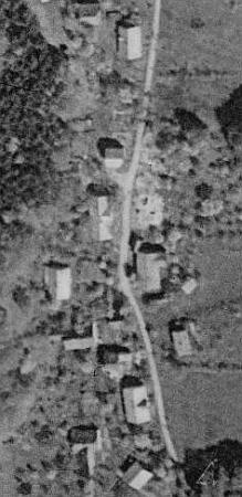 Orlovice u Pocinovic na leteckých snímcích z let 1952 a 2008