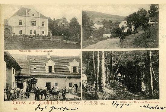 Jedlice na staré pohlednici (viz i Therese Gruberová)