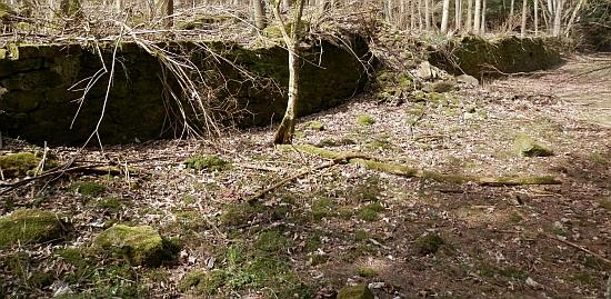 Zbytky zdí Marien-Hof (viz pohlednice výše)