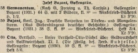 Až do roku 1933 nacházíme jím vydaná díla v československých bibliografiích