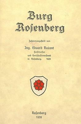 Obálky tří vydání jeho knihy o hradě Rožmberku