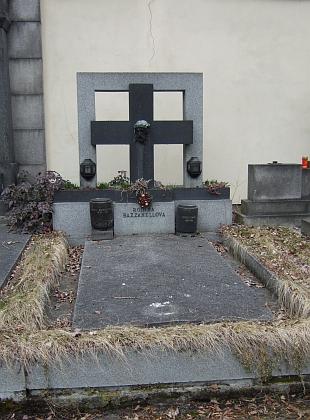 Hrob rodiny Bazzanellovy při severní zdi hřbitova u sv. Otýlie v Českých Budějovicích
