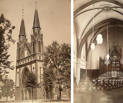 Synagoga v Českých Budějovicích na pohlednicích ze začátku 20. století ze sbírek Jihočeského muzea v Českých Budějovicích (viz i Jakob Fried a Israel Kohn)