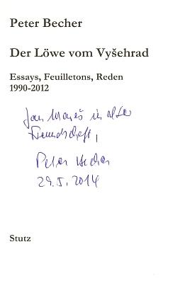 Obálka a titulní list (2012) knihy jeho esejů, fejetonů a projevů, vydané v pasovském nakladatelství Karl Stutz, kterou mi přivezl do Budějovic v květnu roku 2014