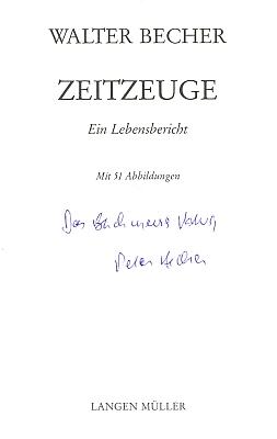 Obálka (1990) a titulní list pamětí jeho otce s věnováním synovým