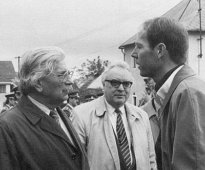 S Ludvíkem Vaculíkem a šéfem lineckého Adalbert Stifter Institutu Johannem Lachingerem v Horní Plané