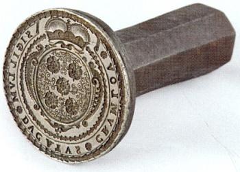 Pečetidlo vévodství českokrumlovského z poloviny 17. století