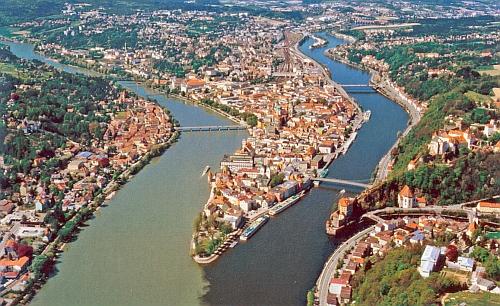 Pasov - město tří řek, z nichž každá má jinou barvu vody