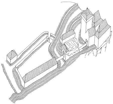 Hmotová rekonstrukce hradu Louzek v závěrečné fázi jeho fungování