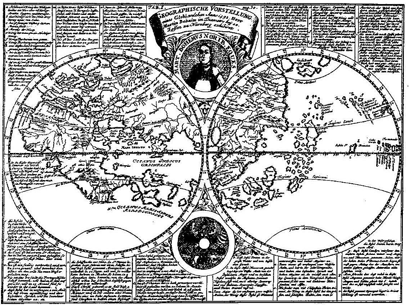 Jeho mapa světa z roku 1492