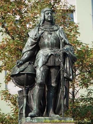 Jeho socha v Norimberku