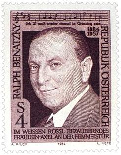 Rakouská poštovní známka s portrétem bratra Ralpha