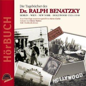 """Obálka deníků Dr. Ralpha Benatzkyho jak vyšly ve """"zvukové knize"""" se snímkem skladatele a jeho ženy Josmy Selim před Braniborskou branou v Berlíně (nakladatelství Duo-Phon Records, 2006)"""