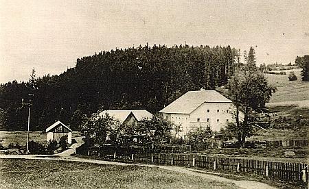 """Pasovarský """"Gaymühle"""" u zaniklé Trojaně na potoce Čertice, jak vyhlížel před svým zničením..."""