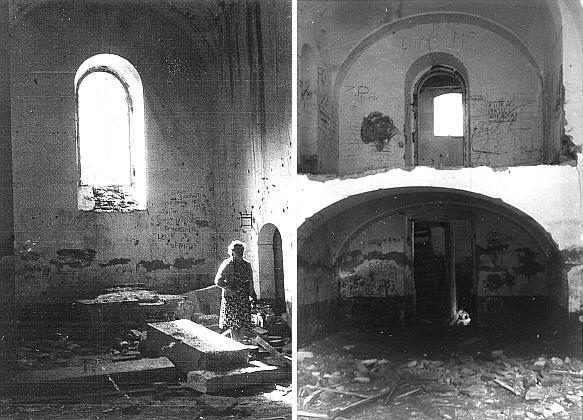 Interiér kostela v polovině šedesátých let 20. století
