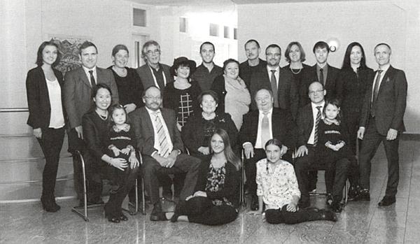V kruhu svých dětí, vnuků, zeťů a snach