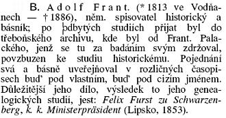 """Ottova encyklopedie ho označuje za """"německého spisovatele historického a básníka"""""""