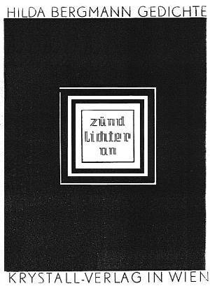 Obálka (1936) sbírky veršů vydané v nakladatelství Krystall ve Vídni