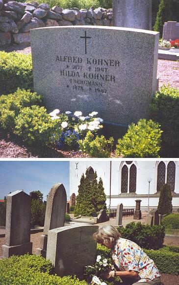 """O hrob ve Švédsku dnes pečují děti manželova syna, její """"nevlastní vnuci"""", v Astorp/Björnekulla blízko města Helsingborg"""
