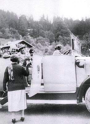 S manželem ještě před válkou v Alpách
