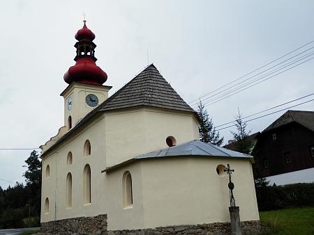 Kaple v Červené na snímcích z roku 2014