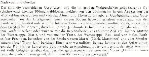 """V závěru svého textu o historii obce Červená se zmiňuje i o své mamince, roz. Thurnerové, """"po chalupě"""" řečené """"Wasserseppal Marie"""""""