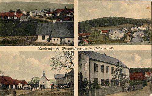Jiná pohlednice z někdejší Červené