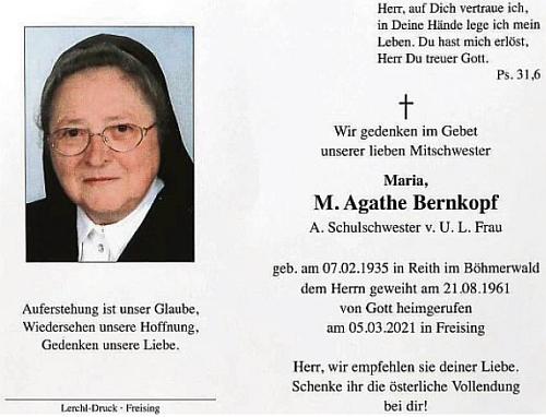 Tyto dva řádky svědčí o tom, že v roce 2011 oslavila 50 let svých řeholních slibů